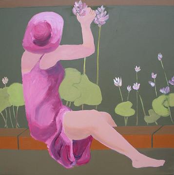 Flowers Painting - The Water Garden by Renee Kahn