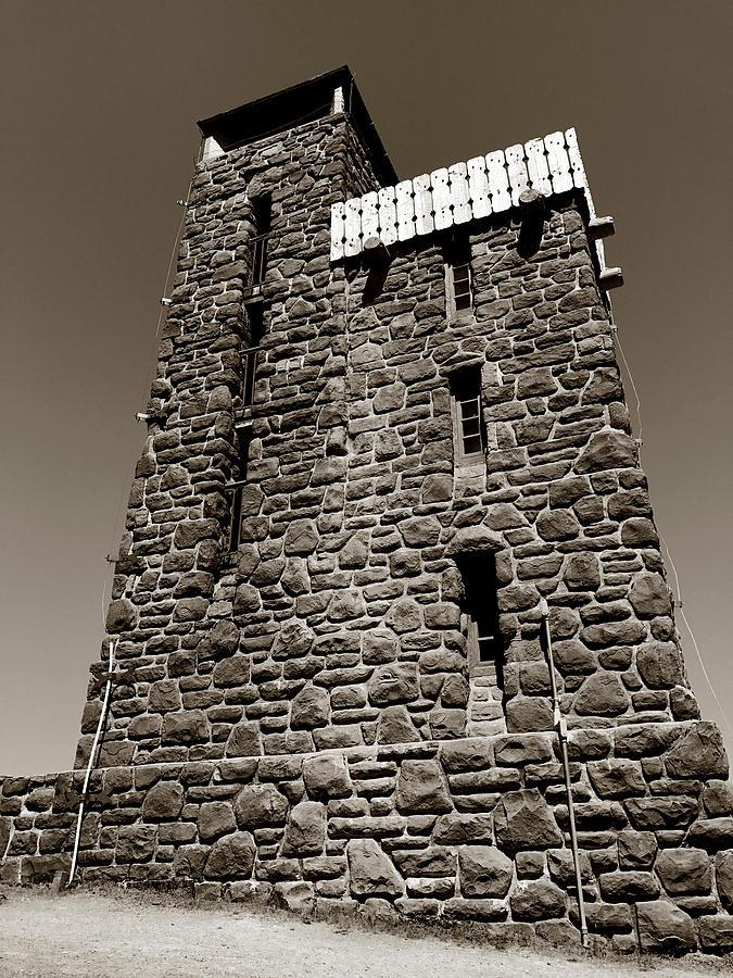 The Water Tower at Mount Constitution by Lorraine Devon Wilke