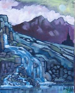 The Waterfall By The Abbey Painting by Kevin McKrell