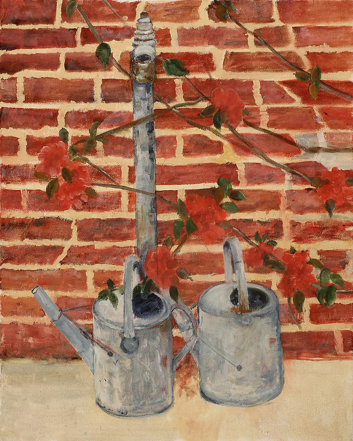 Still Life Painting - The Watering Cans by Betty Stevens