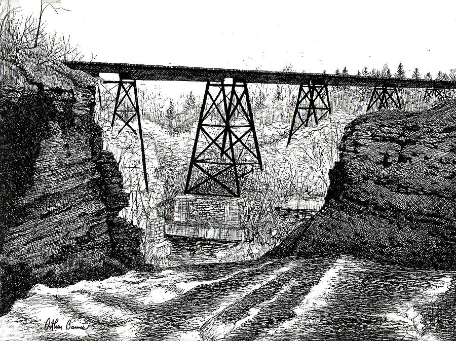 The Waterport Trestle Drawing
