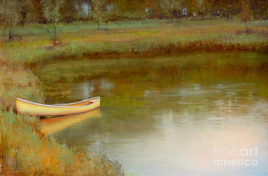 Landscape Painting - The Waters Edge by Lori  McNee