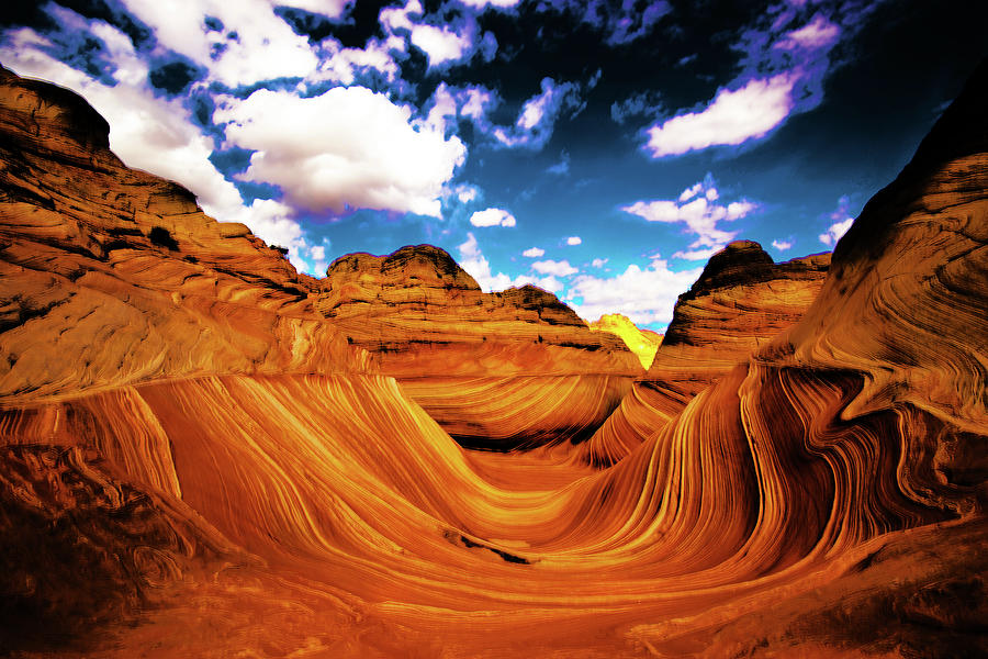 The Wave Photograph - The Wave Arizona Light by Norman Hall