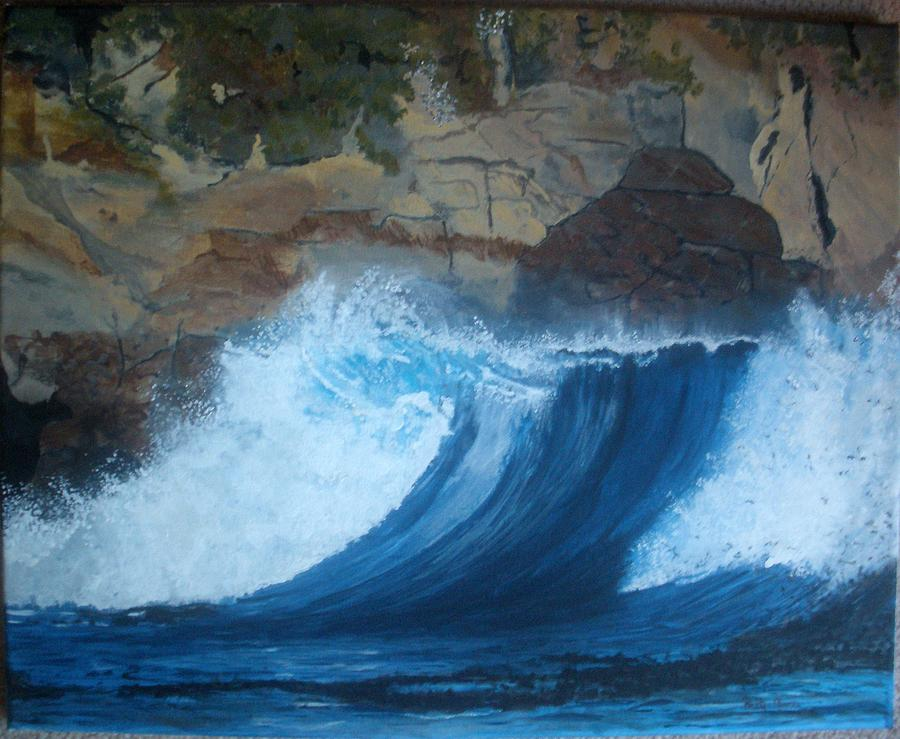 Ocean Painting - The Wave by Betty-Anne McDonald