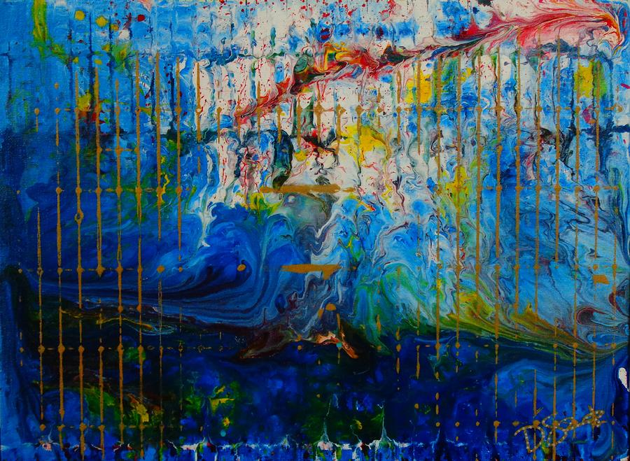 Blue Painting - The Sound Wave by Dane Newton