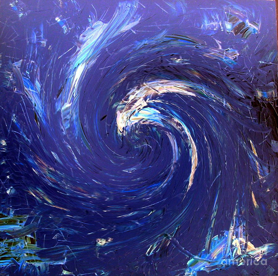 Wave Painting - The Wave by Dawn Hough Sebaugh