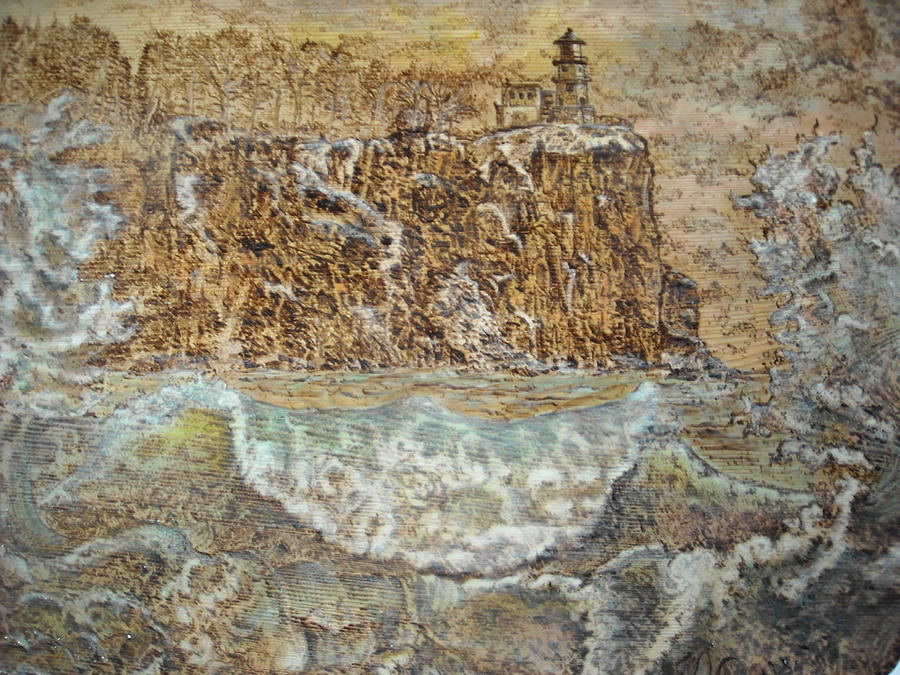 Wave Pyrography - The Wave by Doris Lindsey