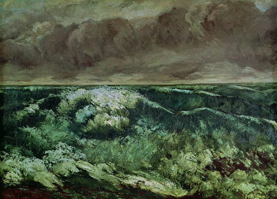 The Painting - The Wave by Gustave Courbet