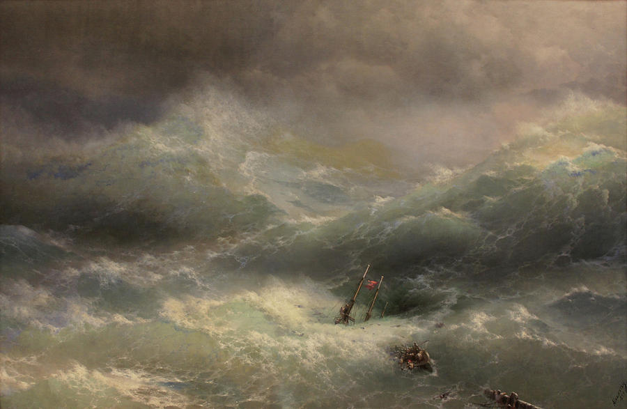 Marine Painting - The Wave by Ivan Aivazovsky