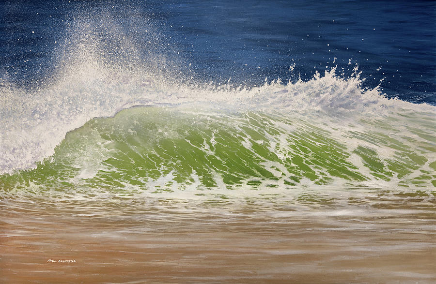 Sea Painting - The Wave by Paul Newcastle