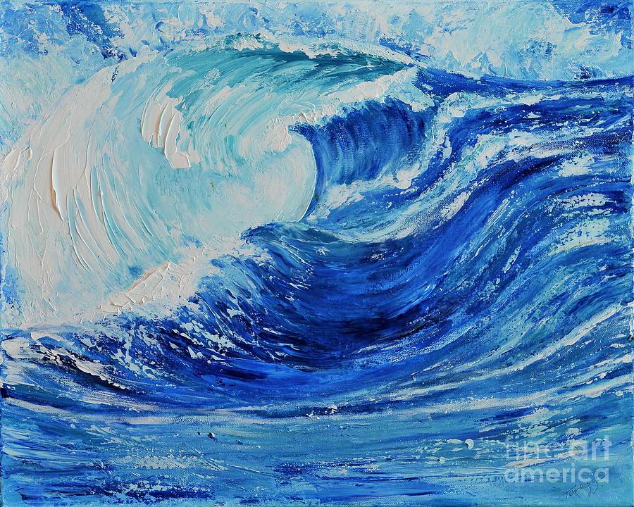 Acrylic Painting - The Wave by Teresa Wegrzyn