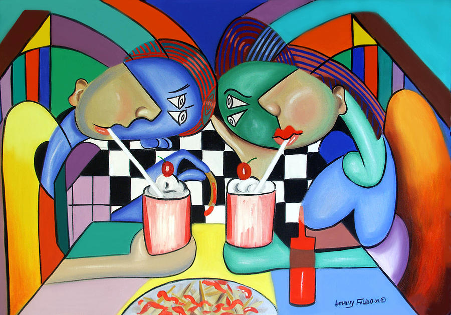 Pizza Painting - The Way It Use To Be by Anthony Falbo
