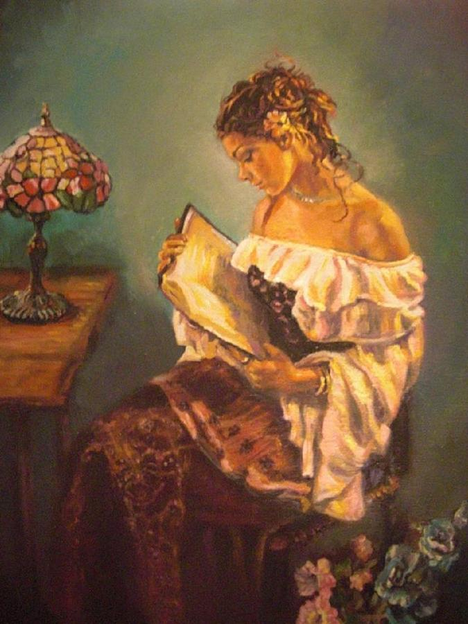 Woman Painting - The Way To Happiness by Deborah  Macy
