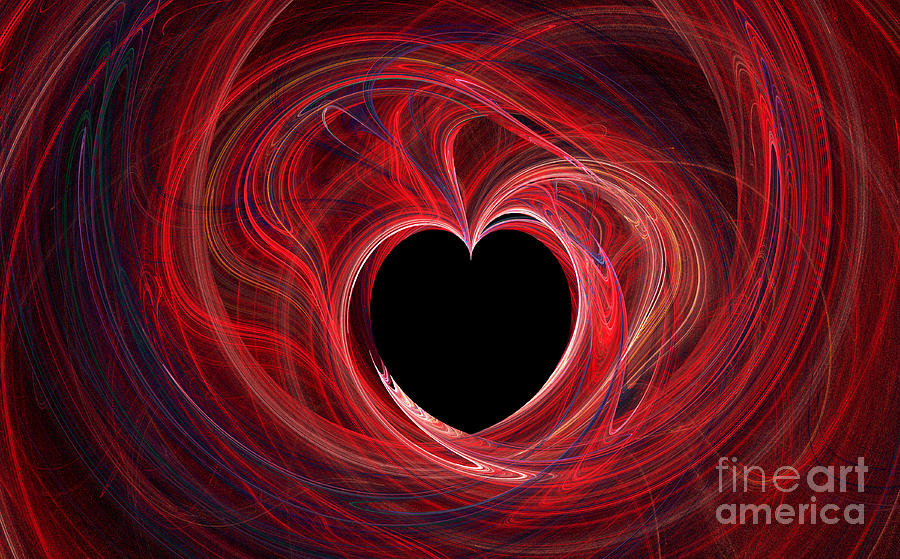 Fractal Digital Art - The Way To My Heart by Kaye Menner