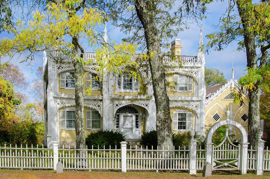 The Wedding Cake House Kennebunk Maine Photograph By Bill Cannon