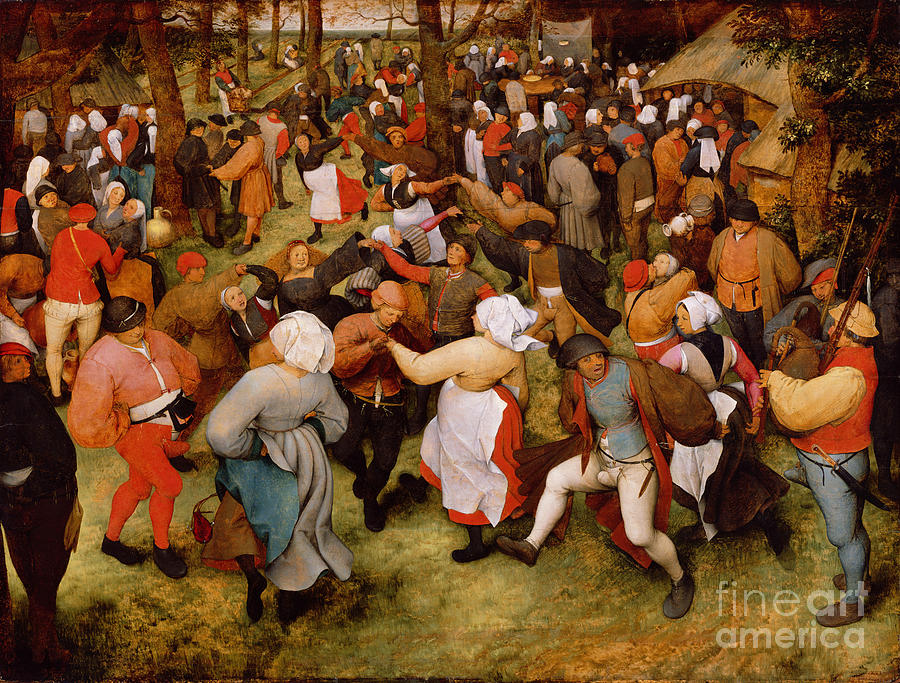 The Painting - The Wedding Dance by Pieter the Elder Bruegel