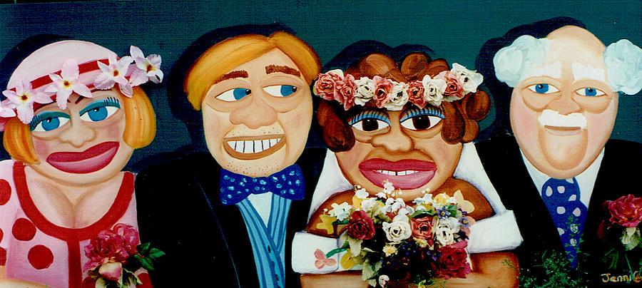 Wedding Painting - The Wedding  by Jennifer England