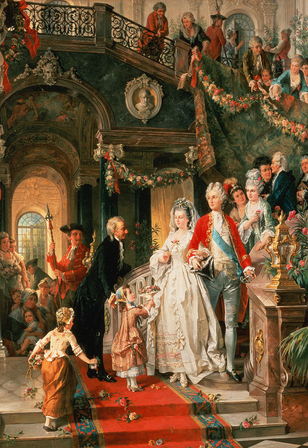 The Wedding Party Painting By Carl Herpfer