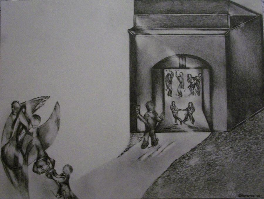 Jesus Drawing - The Wedding by Stacey Abrams
