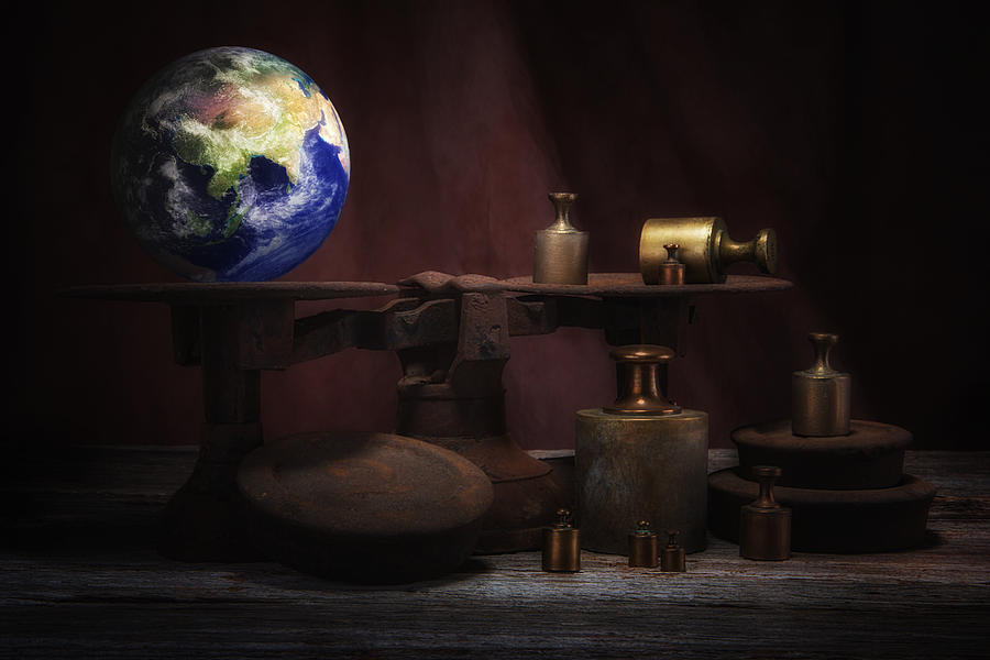Adversity Photograph - The Weight Of The World by Tom Mc Nemar