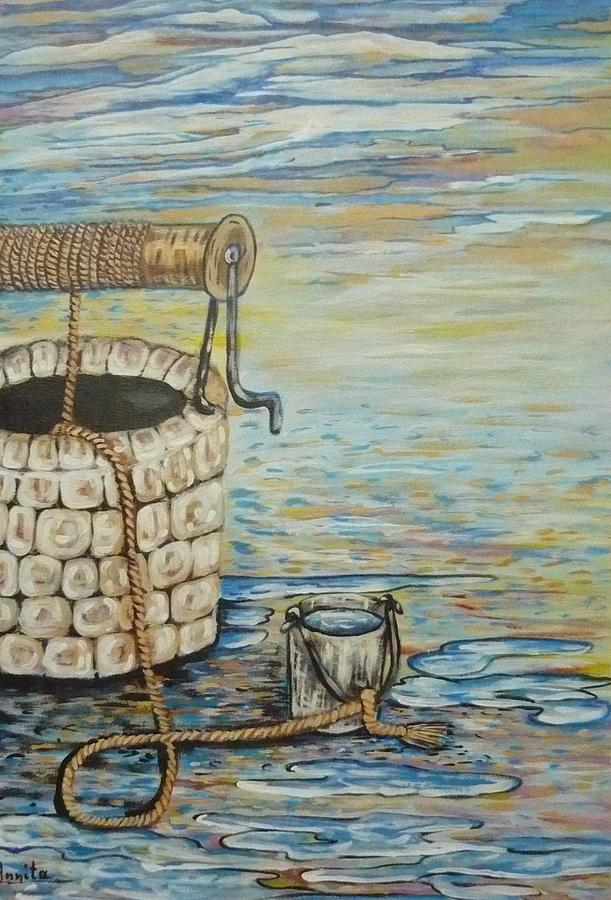 Water Painting - The Well by Anna Dionia