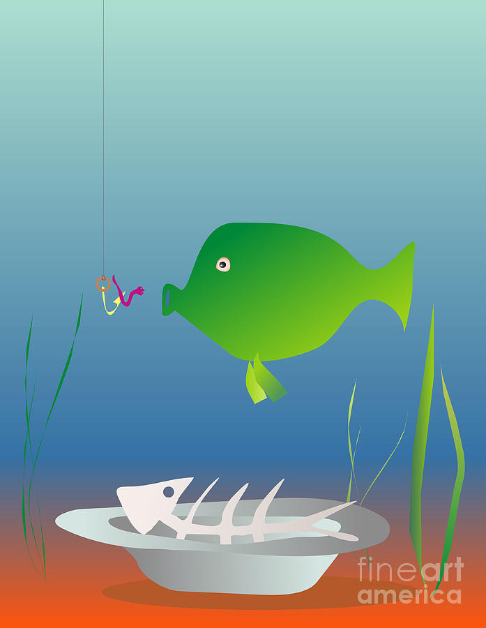 Fish Digital Art - The Well-fed Do Not Understand The Hungry by Michal Boubin