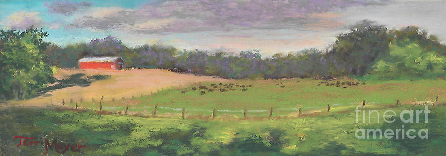 The West Cow Pasture Early Morning Painting by Terri  Meyer