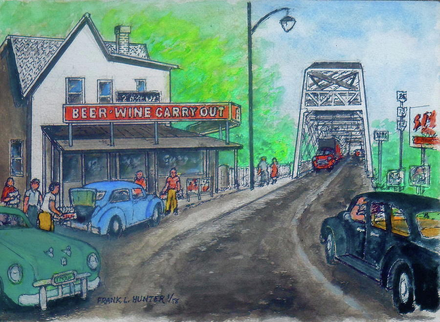 The West End Carryout At The Bridge Painting by Frank Hunter