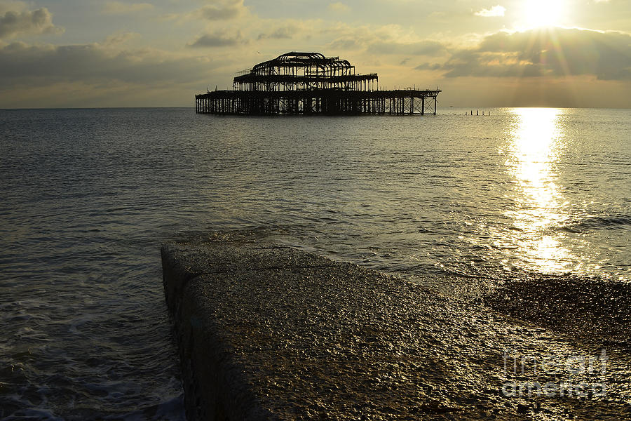 West Pier Photograph - The West Pier by Smart Aviation