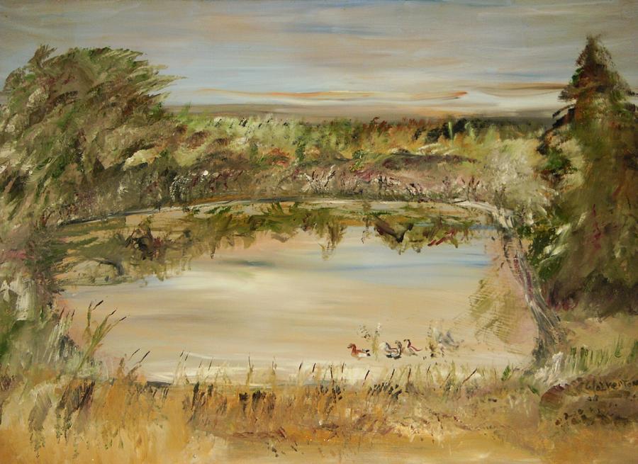 Landscape Painting - The Westfern Pond by Edward Wolverton
