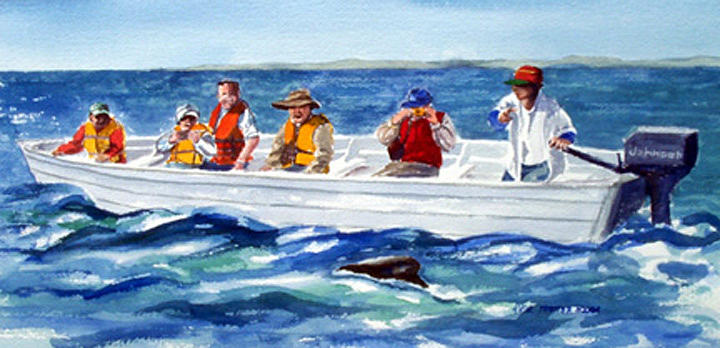 People Painting - The Whale Watchers by Anne Trotter Hodge