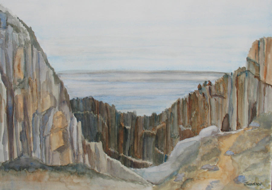 Ocean Painting - The Whale Watchers At Elephant Rock by Jenny Armitage