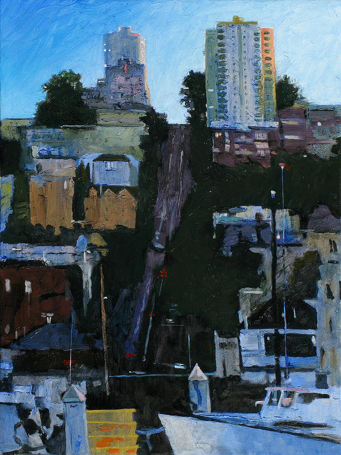 San Francisco Painting - The Wharf by Robert Bissett