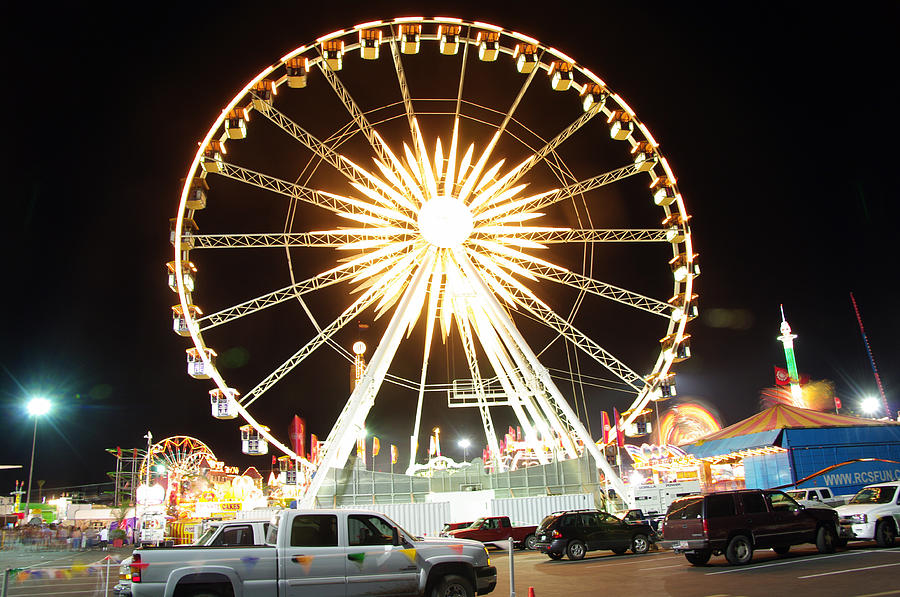 State Fair Photograph - The Wheel by Kenneth Hess