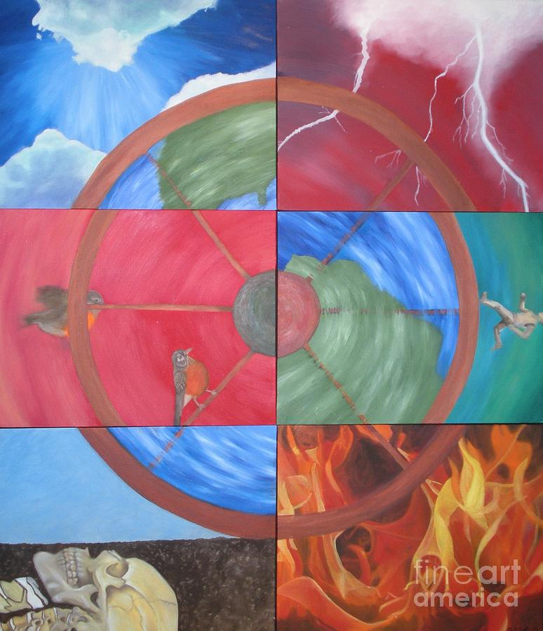 The Wheel Painting - The Wheel by Meg Goff
