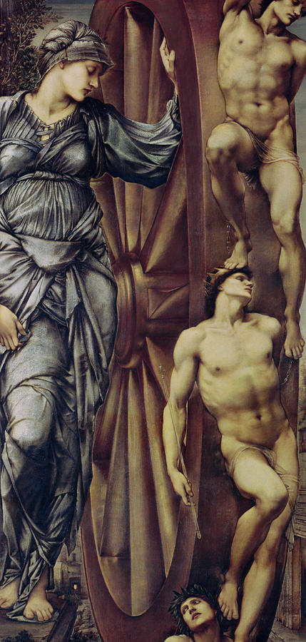 The Wheel Of Fortune Painting - The Wheel Of Fortune by Sir Edward Burne Jones