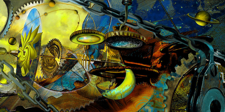 Science Painting - The Wheelwork Of Antikythera  by Anne Weirich