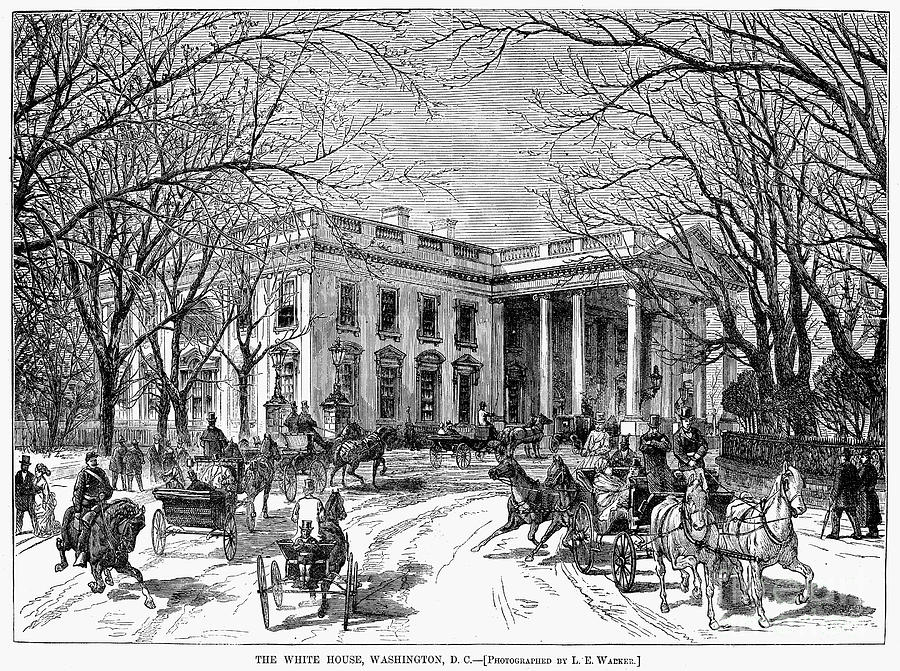 1877 Photograph - The White House, 1877 by Granger