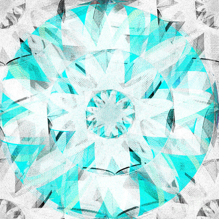 White Digital Art - The White Lotus by Andrew Kaupe