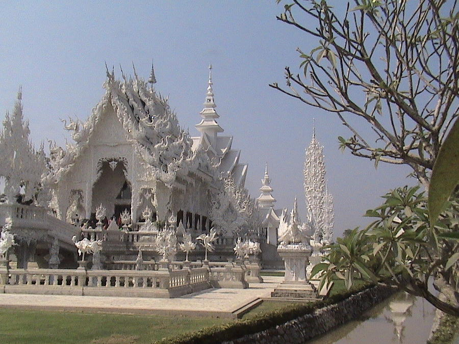Travel Photograph - The White Temple by William Thomas