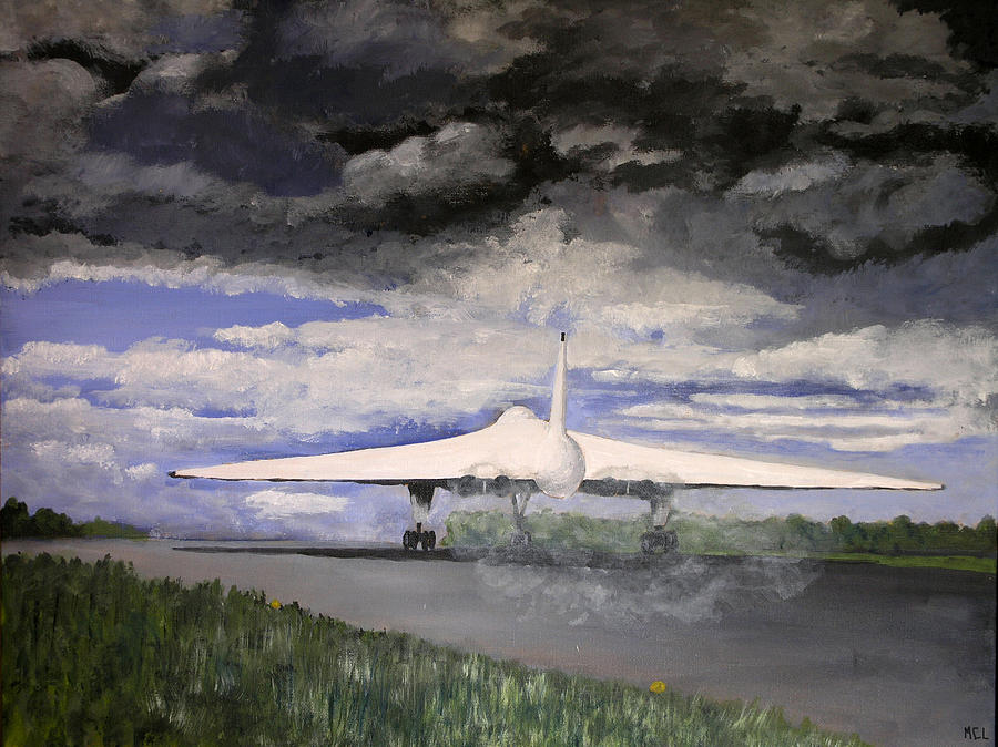 Aerial Painting - The White Vulcan by Mike Lester
