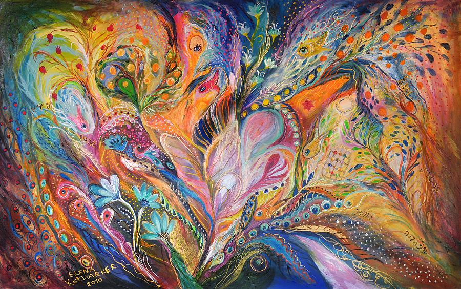 Original Painting - The Wild Iris by Elena Kotliarker