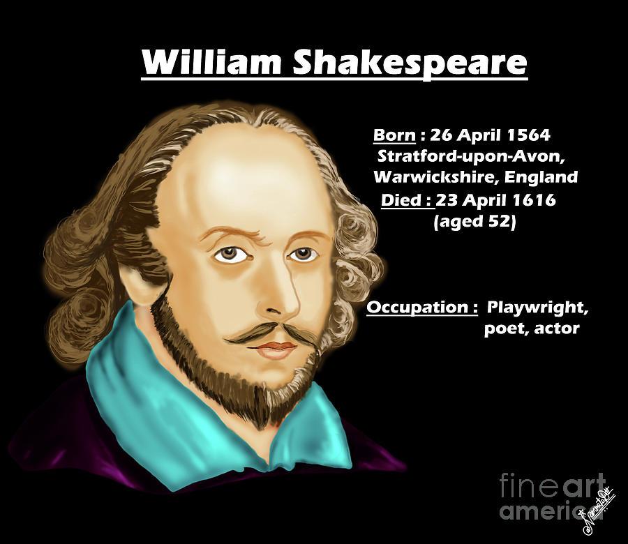 The William Shakespeare Digital Art