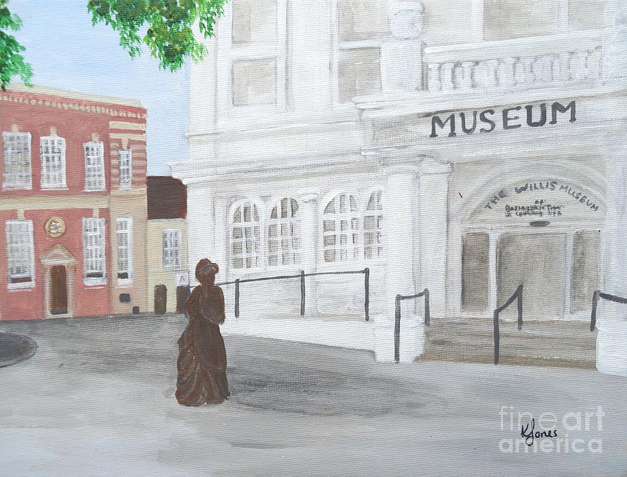 The Willis Museum Basingstoke with Jane Austen Statue by Karen Jane Jones