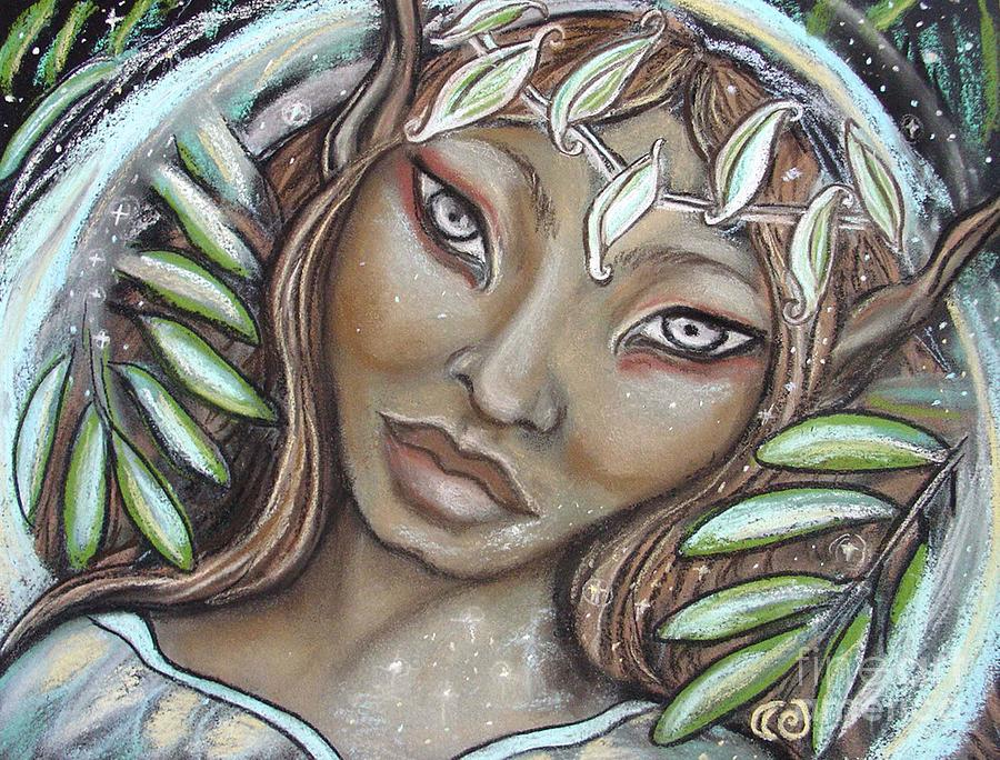 Faerie Painting - The Willow Faerie by Tammy Mae Moon