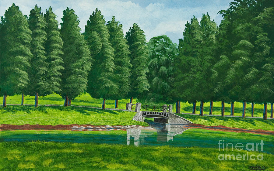 Meadow Painting - The Willow Path by Charlotte Blanchard