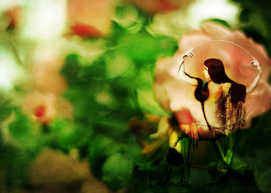 Fairy Photograph - The Wind Around Her Shoulders by Rebecca Sherman
