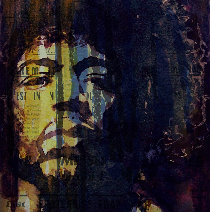 Jimi Hendrix Painting - The Wind Cries Mary Reprise  by Paul Lovering