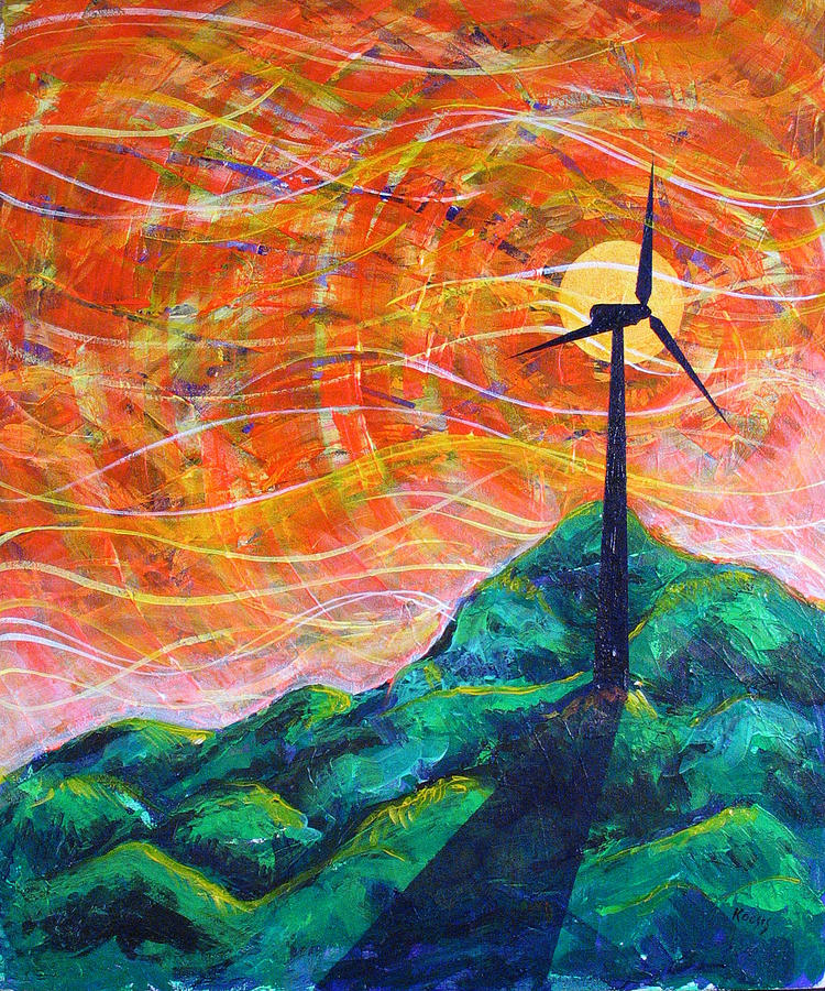Rollin Painting - The Wind by Rollin Kocsis