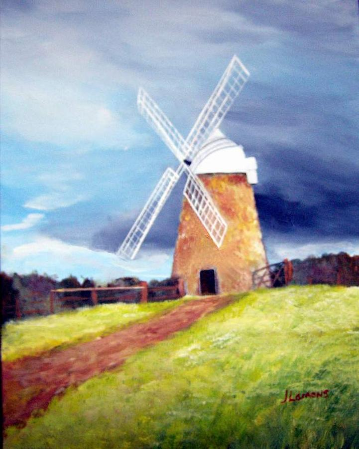 Painting Painting - The Windmill by Julie Lamons